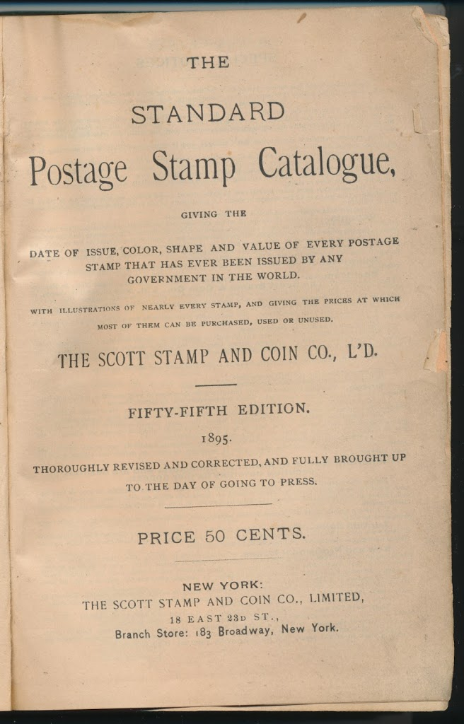 The 1895 scott catalog the scott catalog began as j walter scotts price list and by 1880 had grown into an annual catalog that listed all the stamps fandeluxe Image collections
