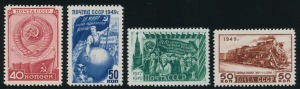 Russian Stamps in 1940s & 50s