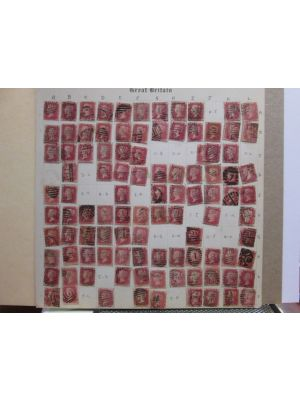 [(33), pl. #166,] partial plating of 211 stamps, VERY FINE