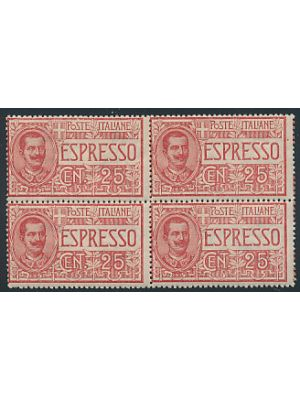 (E1), block of 4, VERY FINE, og, NH - 405883
