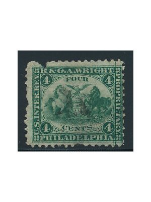(RT25b), pulled perfs, piece missing from top, VERY FINE - 387614