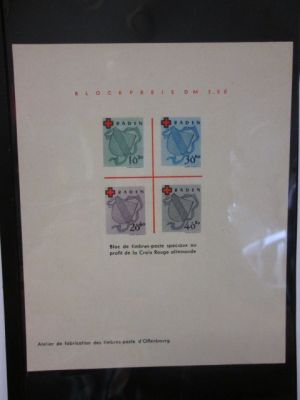 (Michel 42-45), rare proof sheet, VERY FINE