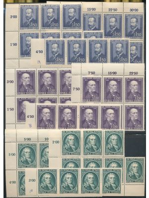 (576, 578-582, 588-589, 591-595, 597, 609) Premium collection of better stamps mostly in blocks and strips housed in stock pages, all are EXTREMELY FINE, og, NH