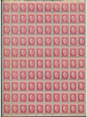 (200var, perf 11; MI 154B), €50 perf stamp, sheet of 100 (€5,000), VERY FINE, og, NH