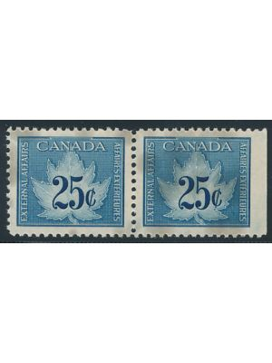 van Dam #FCF1, stains, strip of 2, VERY FINE, og, NH (van Dam C$1250)