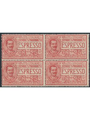 (E1), block of four, VERY FINE, og, NH - 407261