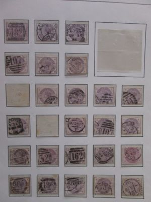 (101), 238 stamps, partial plating, VERY FINE