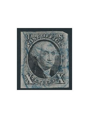 (2), blue cancel, VERY FINE (PF Cert)