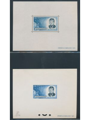 (596a, 596b), perforated and imperf special blocks (Yvert #8, 8a), EXTREMELY FINE, og, NH (Yvert €1000)