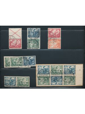 (B60/B64, Michel #S114/W58) Complete used collection of 1933 Opera position pieces. Some duplication. Gen. VERY FINE (MI €1960)