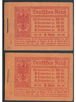 (82f, 84, 120, 120c, Michel MH#13A), two unexploded booklets, VERY FINE, og, NH (MI €600)