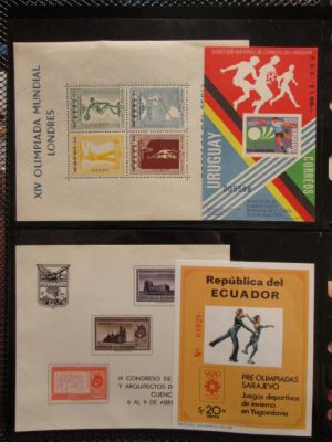 SOUTH AMERICA - MOSTLY MINT SOUVENIR & MINIATURE SHEET SELECTION - 405334