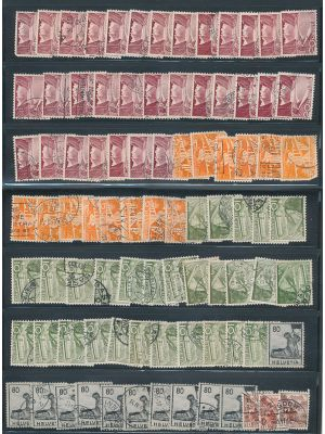 SWITZERLAND - SPECIALTY ACCUMULATION OF AROUND TEN THOUSAND STAMPS from the early 20th century, stored in large bundles. Including many varieties, overprints and color variants, this group contains issues such as [\#137, 137A, 168, 180, 232, 229, 230B, 32