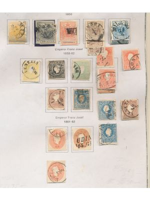 AUSTRIA LOMBARDY-VENETIA - Mainly used collection of issues, mounted on pages. Highlights include #1 (APS Cert), 1c, 3 (2), 5, 5b (2), 6b (2), 7-9, 10a, 11a, 12 (3), 13-14, 15-19, 21, 24 (2), PR2, among others. Gen. VERY FINE