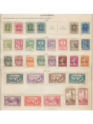 ANDORRA - SMALL MINT COLLECTION TO 1940, many better Spanish and French stamps. VERY FINE, most are stuck to album page