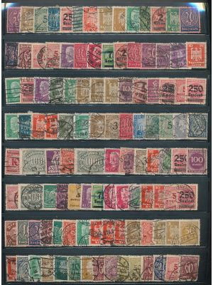 GERMANY - EXCEPTIONAL MID & EARLY 20TH CENTURY SPECIALIZED COLLECTION with compelling Inflation Era issues. Very high catalog value