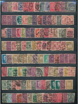 GERMANY - EXCEPTIONAL MID & EARLY 20TH CENTURY SPECIALIZED COLLECTION with great Inflation Period. Very high catalog value
