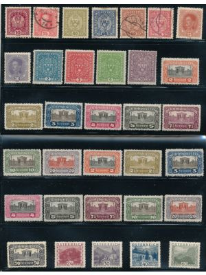 AUSTRIA & LOMBARDY-VENETIA, HIGH QUALITY SELECTION WITH very good premium material throughout, stored neatly on Scott numbered and organized stock cards. The selection features high quality 19th century material and excellent early 20th century, including