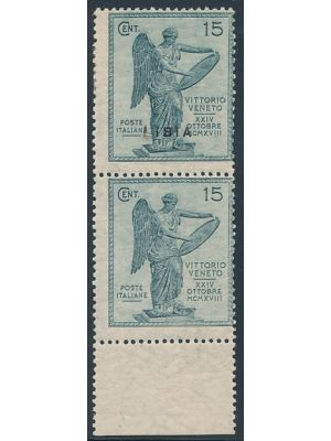 (35 var), pair, one without overprint (Sassone #36c), F-VF, og (signed Economist Stamp Co, Sassone €1400)