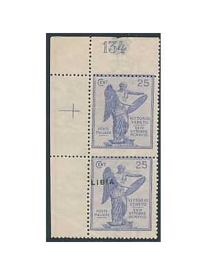 (36 var), pair, one without overprint (Sassone #37c), F-VF, og, stamps NH (signed Economist Stamp Co, Sassone €1750)