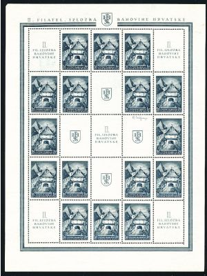 (B126-B127), sheets of 16 with nine labels, VERY FINE-EXTREMELY FINE, og, NH