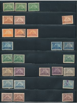 PROPRIETARY STAMPS - Collection of mint and used issues from 1898 to 1919, arranged on stock pages. Included are better like mint #RB23p (2), RB26p (2), RB29p, RB30p (3), RB31p (3), RB37, RB39-41, RB59-64, among others. Gen. VERY FINE, mint og, a couple a