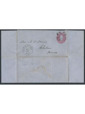 (U36), Letter Sheet, entire, F-VF