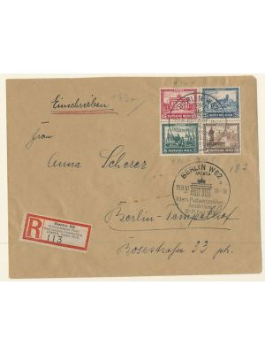(B33a-B33d), in a block, on cover, with IPOSTA Cancel, VERY FINE  (MI €670)
