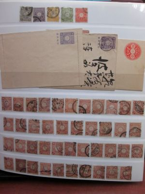 JAPAN - KIKU ISSUE - HIGHLY SPECIALIZED COLLECTION OF THOUSANDS. VERY FINE