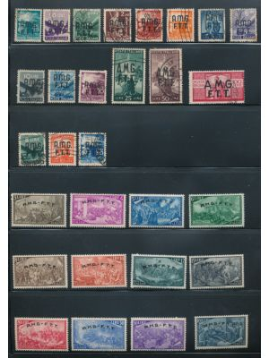 "TRIESTE ZONE ""A"" - Collection of sets and singles going to 1949, on stock pages. Highlights include mint #18-29, 34, C1-6, C7-12, C13-15, J1-6, J7-15 with an extra #J9 & J11-12, used #1-14, 15-17, C16, and more. Gen. VERY FINE, mint og, many are NH, some"