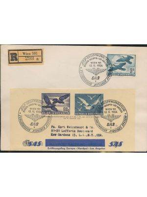 (C57), on cover with SAS Address Label featuring #C54 & C56, VERY FINE (MI €245)