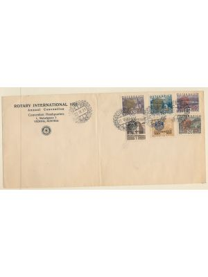 (B87-B92), on Rotary International Convention cover, folded, VERY FINE (MI €600)