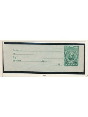(RD91), imperf with complete receipt tab, VERY FINE - 399383