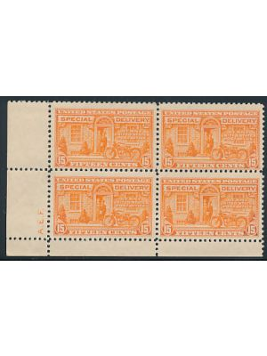 (E13), block of 4 with initials, VERY FINE, og, NH