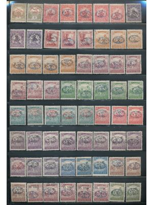 HUNGARIAN OCCUPATIONS - DEBRECEN FIRST & SECOND ISSUES, high quality, all-mint and stored neatly on clean black stock pages with light duplication throughout. The selection is virtually complete including premium mint highlights like mint #2N3, 2N4-2N5, 2
