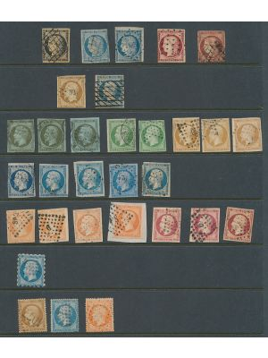 FRANCE  Used selection of 19th century Classics. Gen. F-VF or better