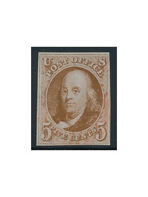 (1c), neat red cancel, EXTREMELY FINE