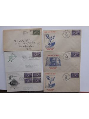 PREMIUM COVERS Very attractive group of roughly 150 covers with some 90% from US and then group of German airmails and other. The US section contains number of highly attractive first day baseball theme covers, notably three Baseball Centenary FDCs with a