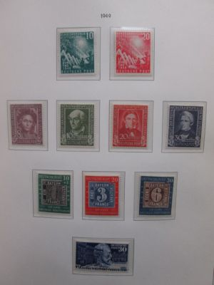 GERMANY - PREMIUM COLLECTION Very impressive mint collection of well over 1,000 different issues covering stamps of Federal Republic going to the mid 1970s housed in a beautiful hingeless Lighthouse album (retail value for the album alone would be close t