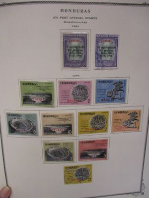 HONDURAS Very attractive and virtually all mint collection of over 1,000 different issues, with particular attention to airmail section, covering the stamps of Honduras from earliest period all the way up to 1990 housed in a Scott Specialty album. The col