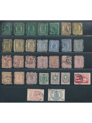 FINLAND -  Nice 19th century selection of some 30 issues with minimal duplication, F-VF