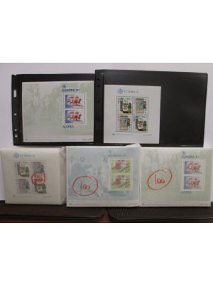 PORTUGAL & COLONIES - Dealer's lot of 1981 EUROPA sheets from Portugal, Azores, and Madeira duplicated hundredfold, neatly packed on glassines, VERY FINE, og, NH