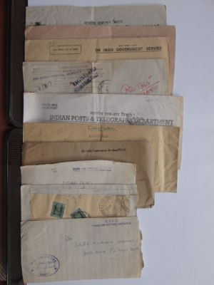 INDIA & STATES - COVERS An attractive selection of over fifty covers primarily from around a number of Indian military bases mostly from WWII, but some go into the 1960s. Really interesting group for enthusiasts of philately as well as military history al