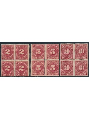 (J32, J34-J35), small faults on nice looking mint blocks of 4, F-VF - 400525