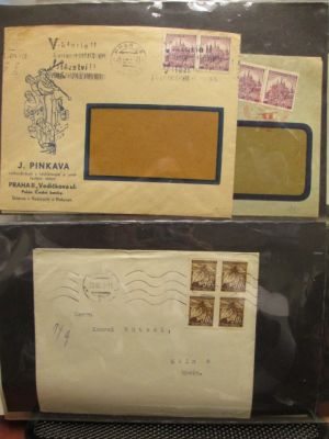 BOHEMIA & MORAVIA Very attractive group of some 50 covers including Field Post letters, postcards, official correspondence and more giving a great insight into philatelic history of that peculiar period. The selection would surely appeal to enthusiasts of