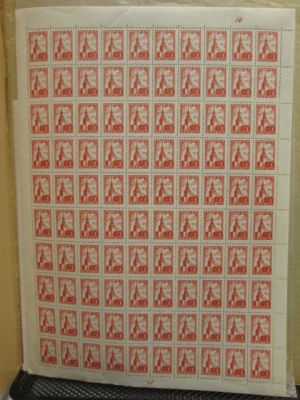 RUSSIA - MINT SHEETS - An extensive mint never hinged selection of thousands of stamps mostly in complete sheets of a hundred primarily from the 1950s and 60s housed in a mint sheet file. The selection should appeal to specialty collectors looking to elev
