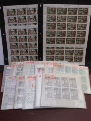 LIBERIA - MINT DEALER'S SELECTION Very attractive selection of hundreds of mint never hinged issues from the 1960s and 70s combining regular stamps and back-of-the-book issues all neatly stored in Scott numbered glassines. Overall catalog value would exce
