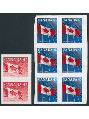(1362c, 1394a), #1362c in block of six counted as three pairs, creases, VERY FINE, og, NH