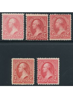(248-252), VERY FINE, og, #248-249 are NH
