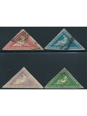 (3-6), #5 unused, VERY FINE VERY HANDSOME SET OF STAMPS WITH LARGE MARGINS